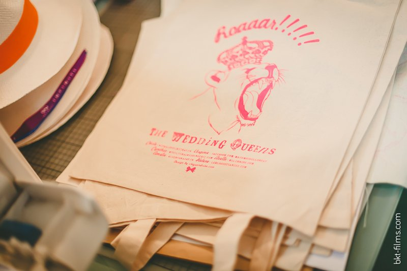 creation de tote bag chez sandrine wedding queens