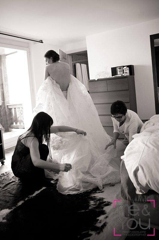 préparatif de la mariée