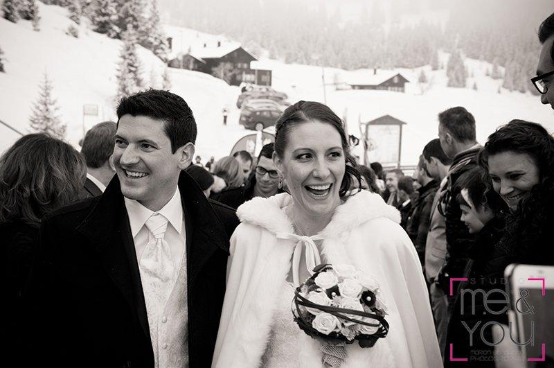 mariée hiver neige suisse