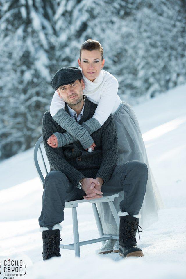 Des amoureux de la neige du gris par c cile cayon with for Shooting photo exterieur hiver