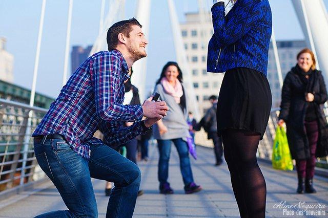 Une demande en mariage à Londres…