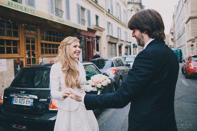 arrivée des mariés - Paris