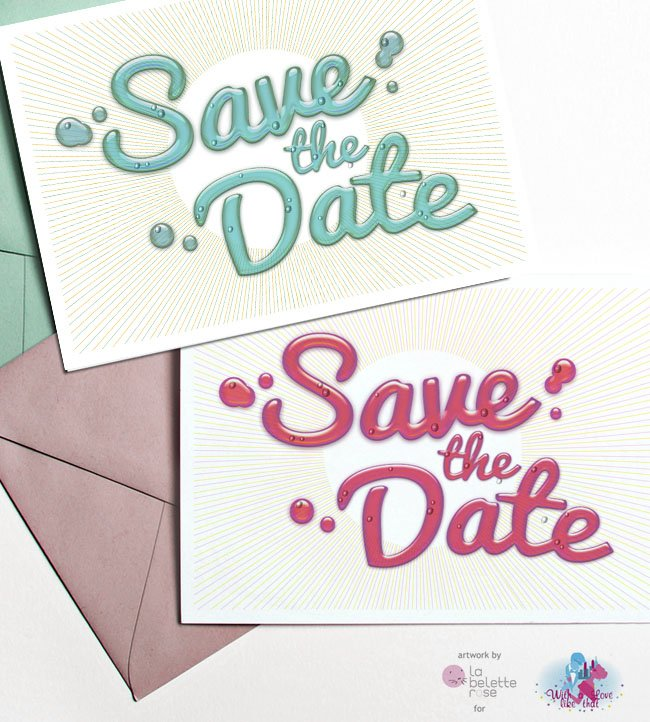 Save the date à télécharger par la Belette rose