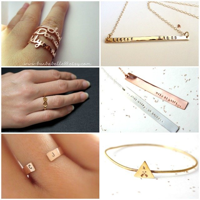 bijoux personnalisable / bague prénom / collier prénom / bracelet message initiales / + sur withalovelikethat.fr