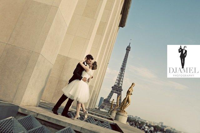 Mariés à paris Trocadero tour eiffel / photographe Djamel photography / les amoureux de withalovelikethat.fr