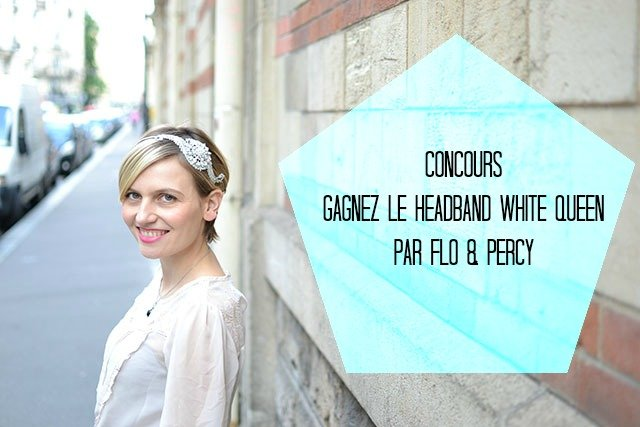 gagnez un headband white queen par Flo & Percy sur withalovelikethat.fr