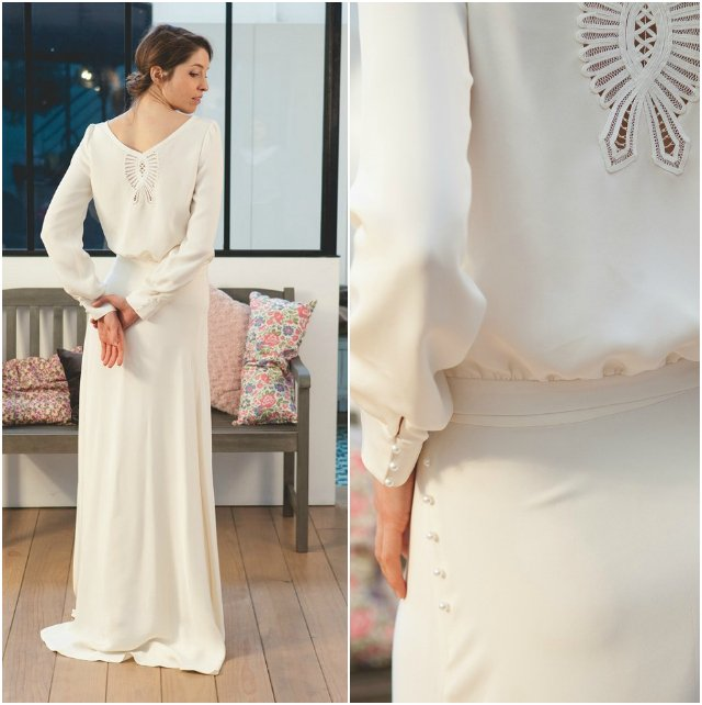 Les 5 robes de mari es pr f r es de mathilde marie with a love like that blog mariage - Robe mariee manches longues ...