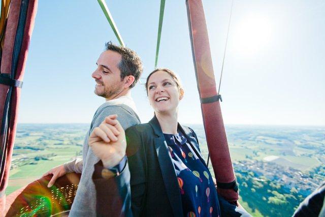 Séance engagement en Montgolfière / photographe Elena Fleutiaux / + sur withalovelikethat.fr