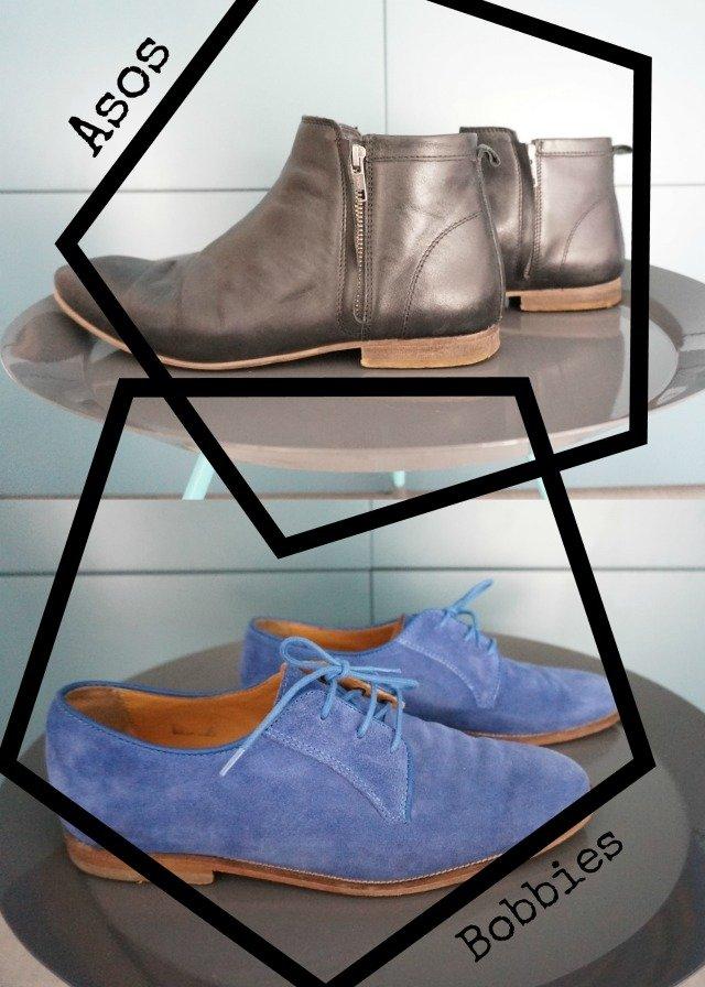 Chaussures hommes préférées : Boots par Asos / Chaussures Bobbies par Kévin de withalovelikethat.fr
