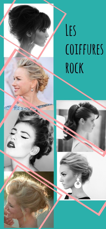 Coiffure mariage Rock / idées de coiffures pour la mariée ou ses invitées par withalovelikethat.fr