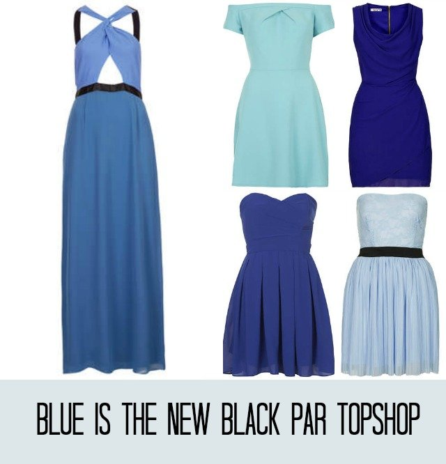 Blue is the new black tenue d 39 invit e with a love like for Robe bleue royale pour mariage