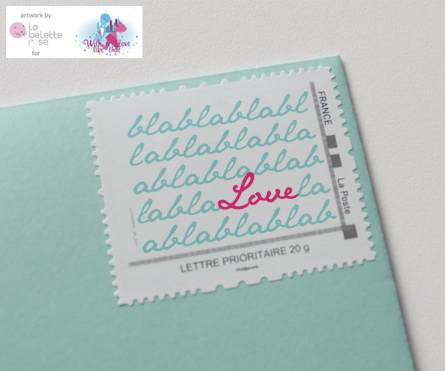 timbre personnaliss par la belette rose pour withalovelikethatfr - Timbres Personnaliss Mariage