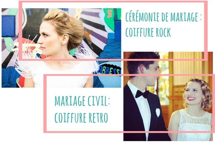 Coiffure de mariage withalovelikethat / chignon banane rock + carré rétro