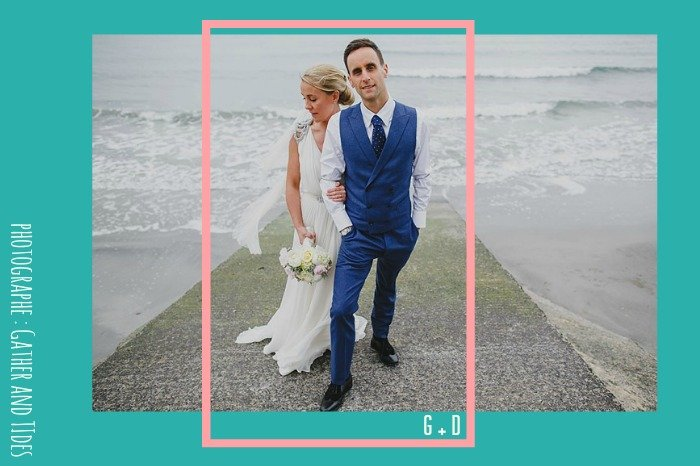 Mariage bord de mer Irlande / Robe Jenny Packham / photographe Gather and Tides / + sur withalovelikethat.fr