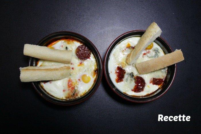 Recette oeuf cocotte gorgonzola chorizo / + sur withalovelikethat.fr