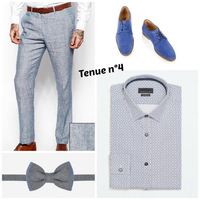 tenue-homme-originale-chaussures-bleues
