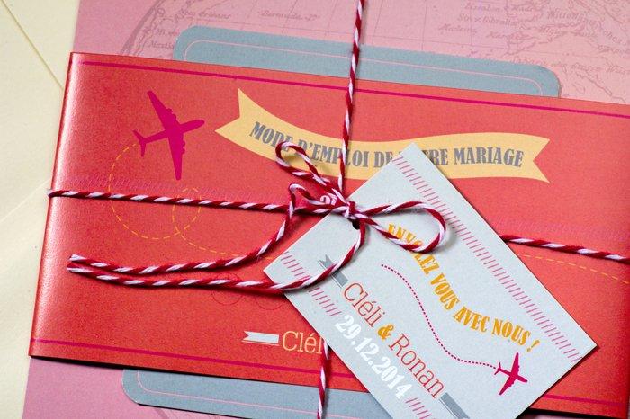 idée faire part mariage ssur le thème du voyage / les faire part de julie / publié sur le blog withalovelikethat.fr