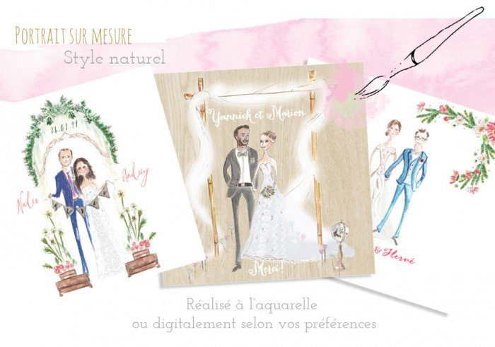 Illustration personnalisée / Happy chantilly studio/ publié sur withalovelikethat.fr