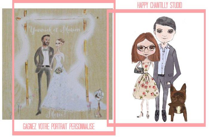 gagnez un portrait illustré personnalisé avec Happy Chantilly
