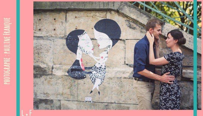 des amoureux au canal st martin par Pauline Franque
