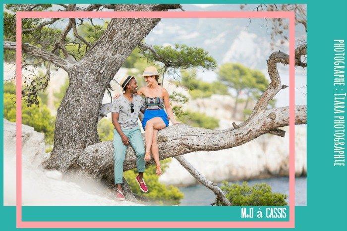 Séance photo en amoureux dans les calanques / photographe Tiara photographie / publié sur le blog withalovelikethat.fr