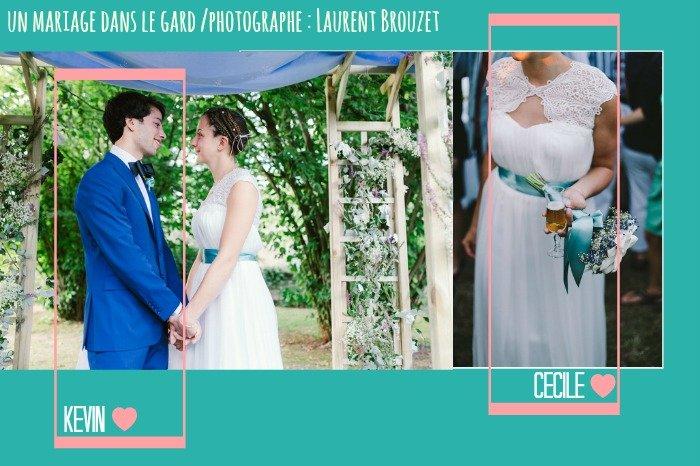 coup de coeur mariage dans le gard en bleu / photographe Laurent Brouzet / publié sur withalovelikethat.fr