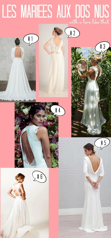 Sélection de robes de mariées dos nus sur withalovelikethat.fr
