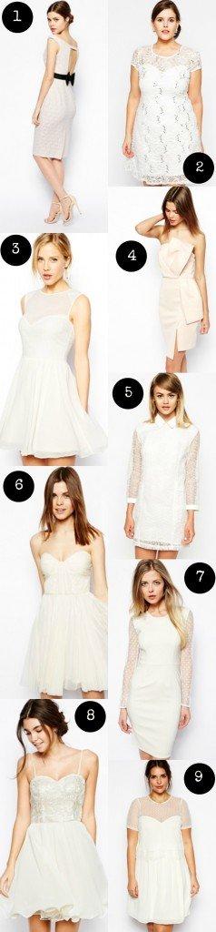 9 robes de mariées pas chères ET canons chez asos