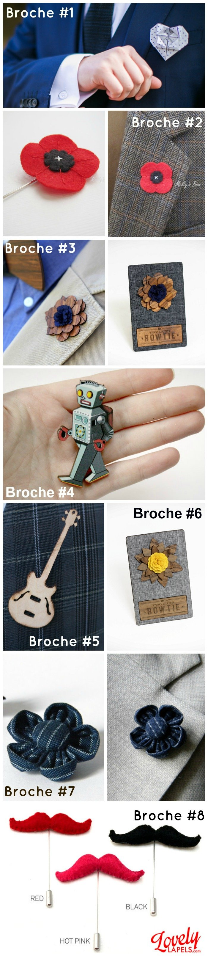 accessoires tenues hommes broches / publié par withalovelikethat.fr