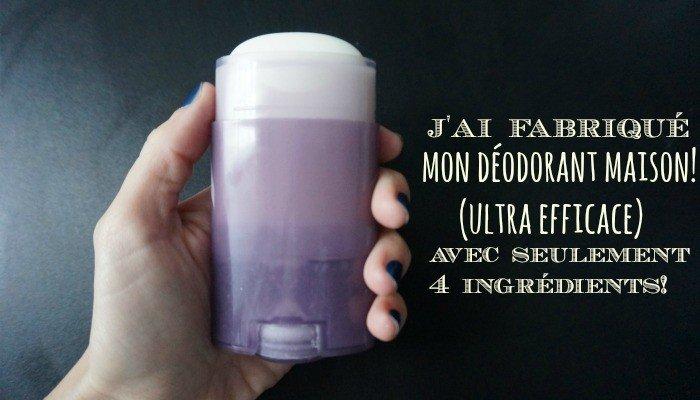 mon déodorant naturel fait maison (et ULTRA efficace!)