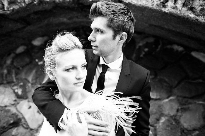 mariés photo noir et blanc - publié par withalovelikethat.fr