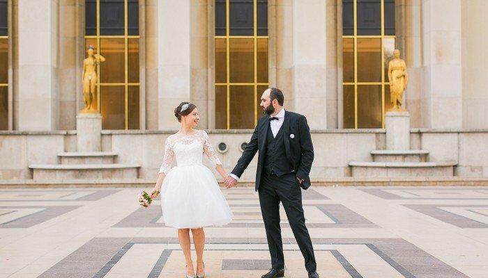 un mariage chic-fun noir / blanc / gold à Paris