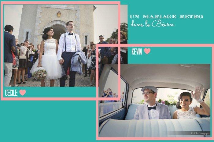 Mariage rétro dans le Béarn / photographe Emilie Soler / publié sur withalovelikethat.fr