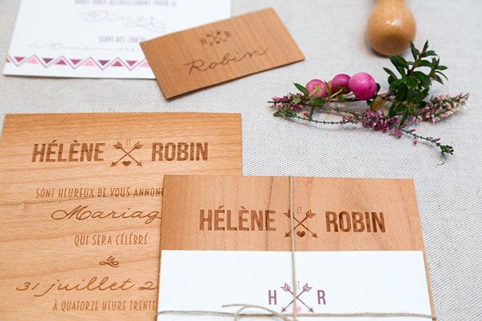 Faire part de mariage original en Bois par Save the date / plus d'infos sur withalovelikethat.fr