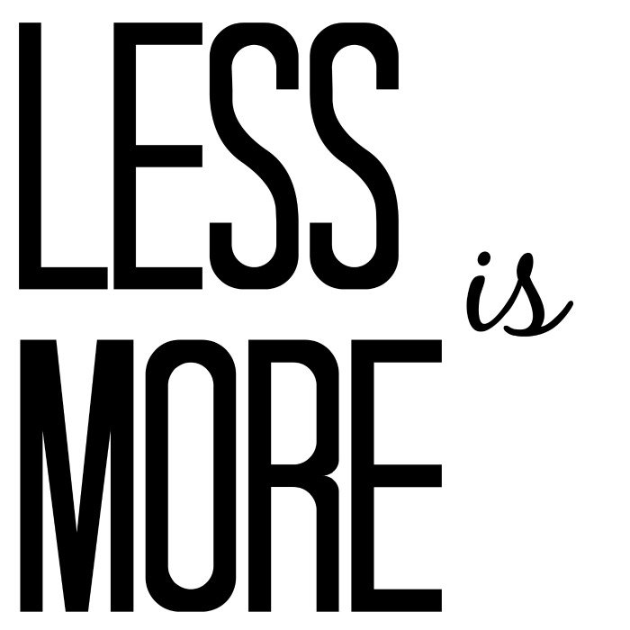 Less is more / withalovelikethat.fr