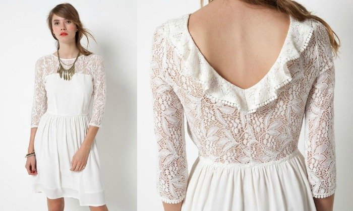 Robe de mari e pas ch re archives with a love like that for Robes courtes blanches mariage
