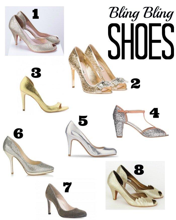 Sélection chaussures à paillettes dorées ou argentées / sur le blog withalovelikethat.fr