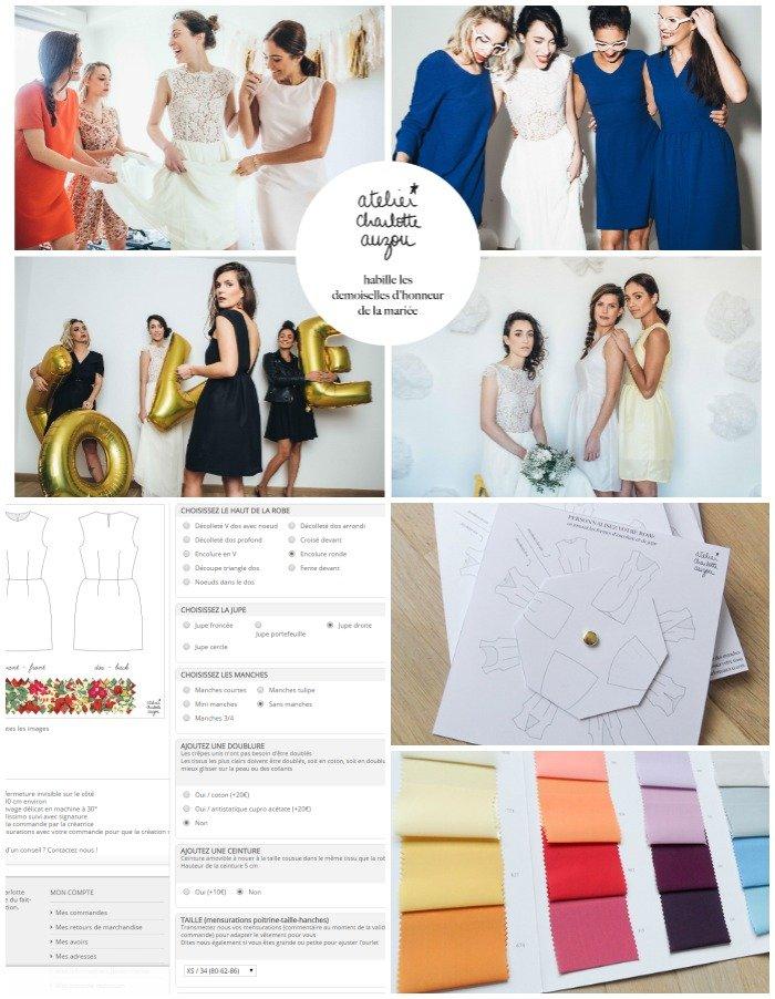 Atelier Charlotte Auzou, création robes de mariées semi mesure / publié sur withalovelikethat.fr