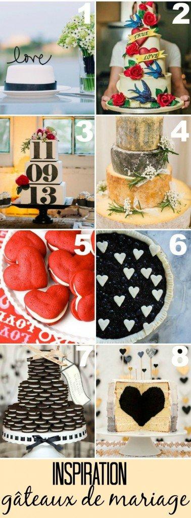 inspiration gâteaux de mariage / sur le blog withalovelikethat.fr