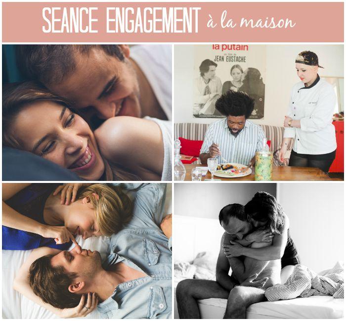 Séance engagement à la maison / inspiration sur withalovelikethat.fr
