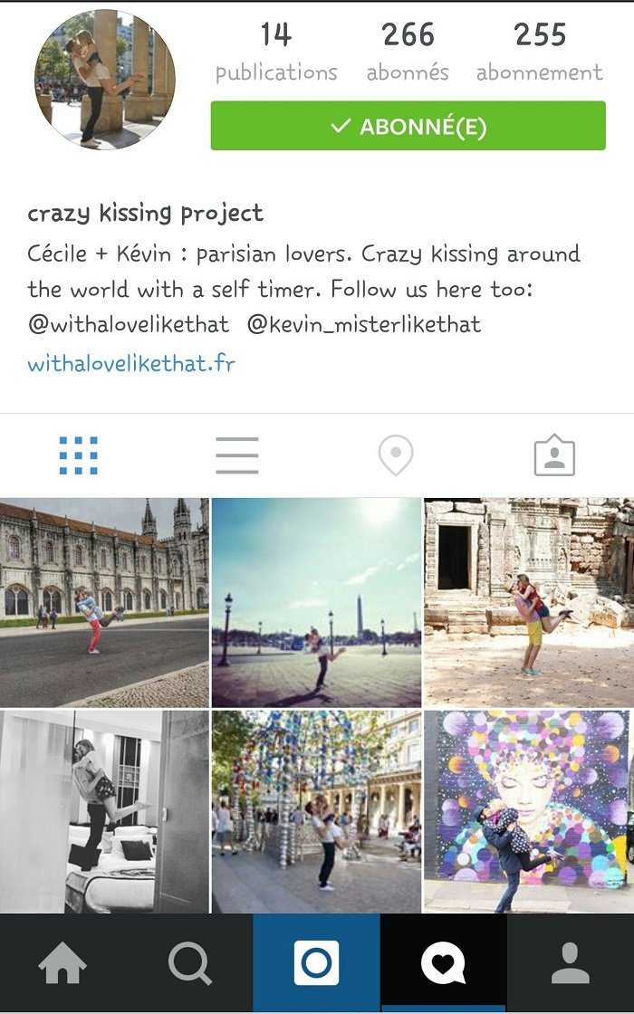 crazy kissing project sur instagram / https://instagram.com/crazy_kissing_project/