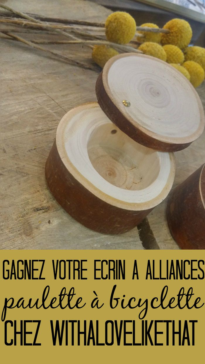 écrin à alliances en bois Paulette à bicyclette / publié sur withalovelikethat.fr