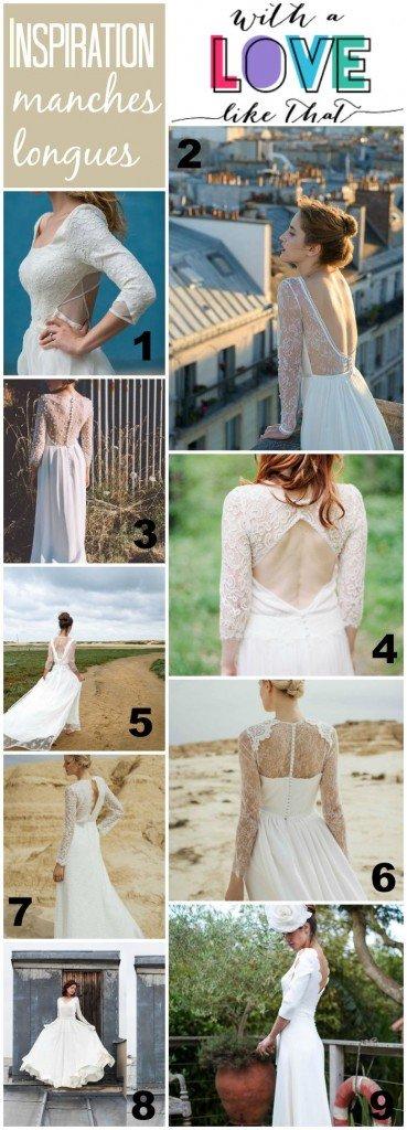 robes de mariée manches longues 2016