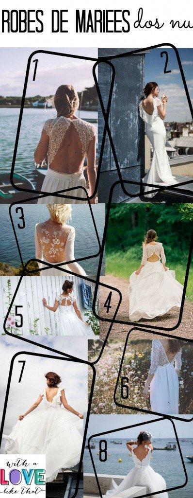 les robes de mariée dos nu 2016