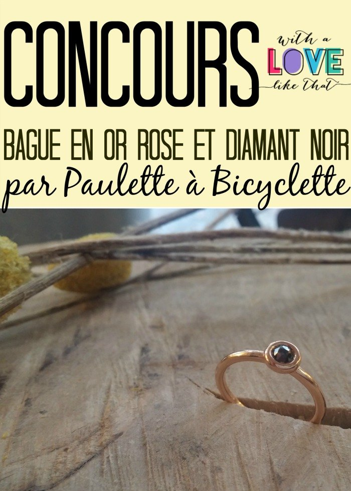 bague fine or rose diamant noir (label fairmined équitable) : la bague likethat par Paulette à Bicyclette / sur withalovelikethat