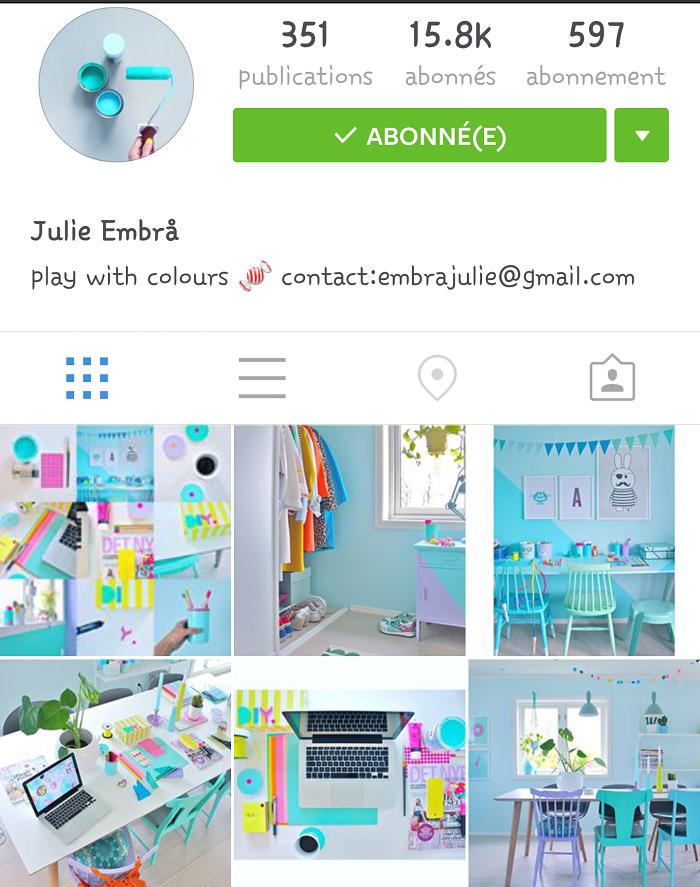 Mes comptes instagram préférés: Julie Embra / retrouvez mes autres comptes préférs sur le blog withalovelikethat.fr
