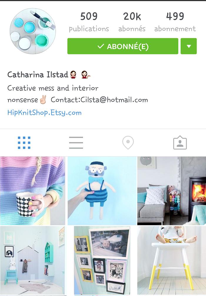 Compte instagram préféré: cahtarina ilstad. Retrouvez mes autres comptes préférés sur le blog withalovelikethat.fr