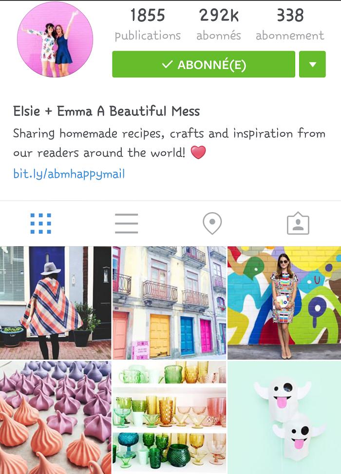 Comptes instagram préférés a beautiful mess