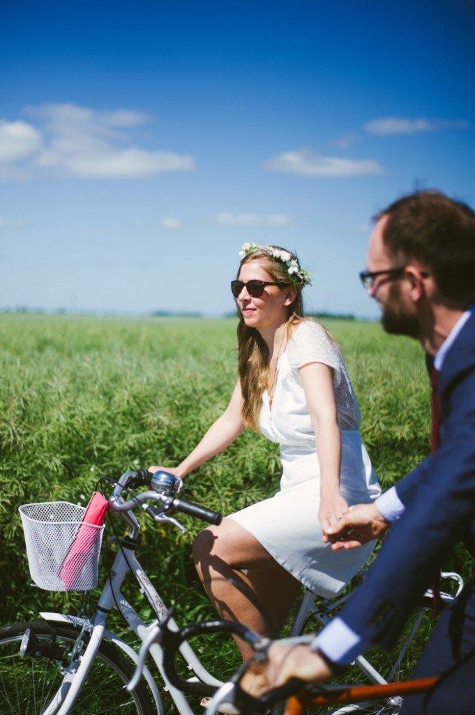 Un mariage en Normandie à bicyclette