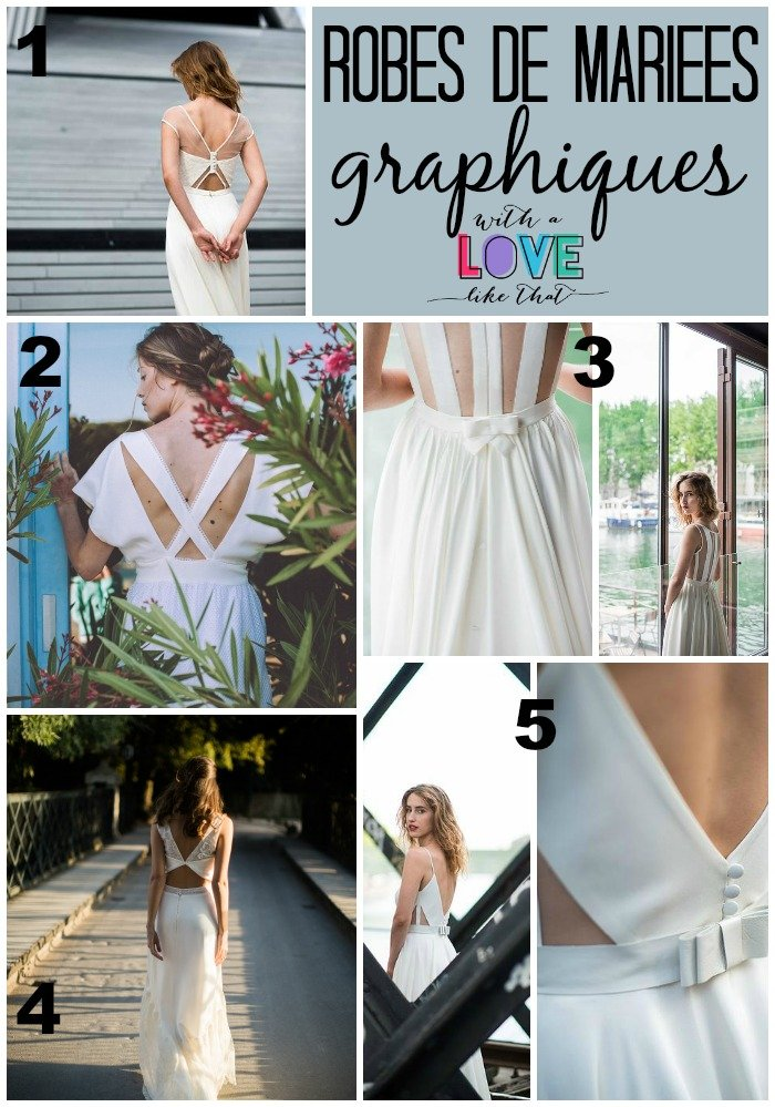robes de mariée graphiques-modernes / ma sélection sur withalovelikethat.fr